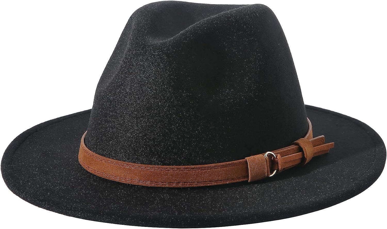 Lanzom Women Men Retro Style Bargain Wide Hat Buckle Panama Belt Wo Daily bargain sale Brim