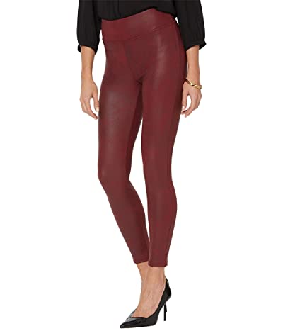 NYDJ Coated Leggings (Burgundy) Women