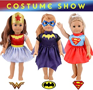 Total 11pcs/set Halloween Costume Change Show Doll Clothes Set for 18 inch American Girl Doll ,Our Generation Doll