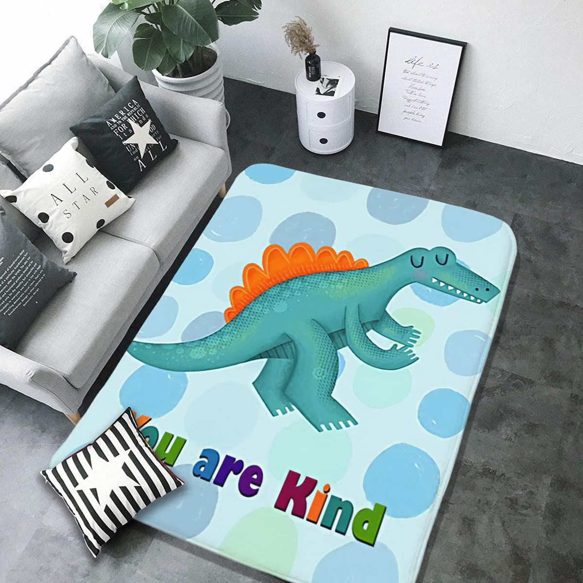You are Kind Dinosaur Safety and trust Funny Carpet Bedroom Area Camping Soft Manufacturer direct delivery Mat