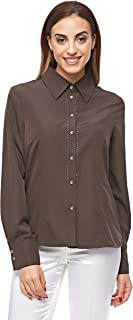 Pierre Cardin Shirts For Women, Brown 34 EU