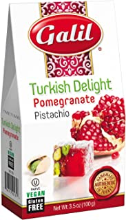 Galil Pomegranate/Pistachio Turkish Delight, 3.5 Ounce (Pack of 6)