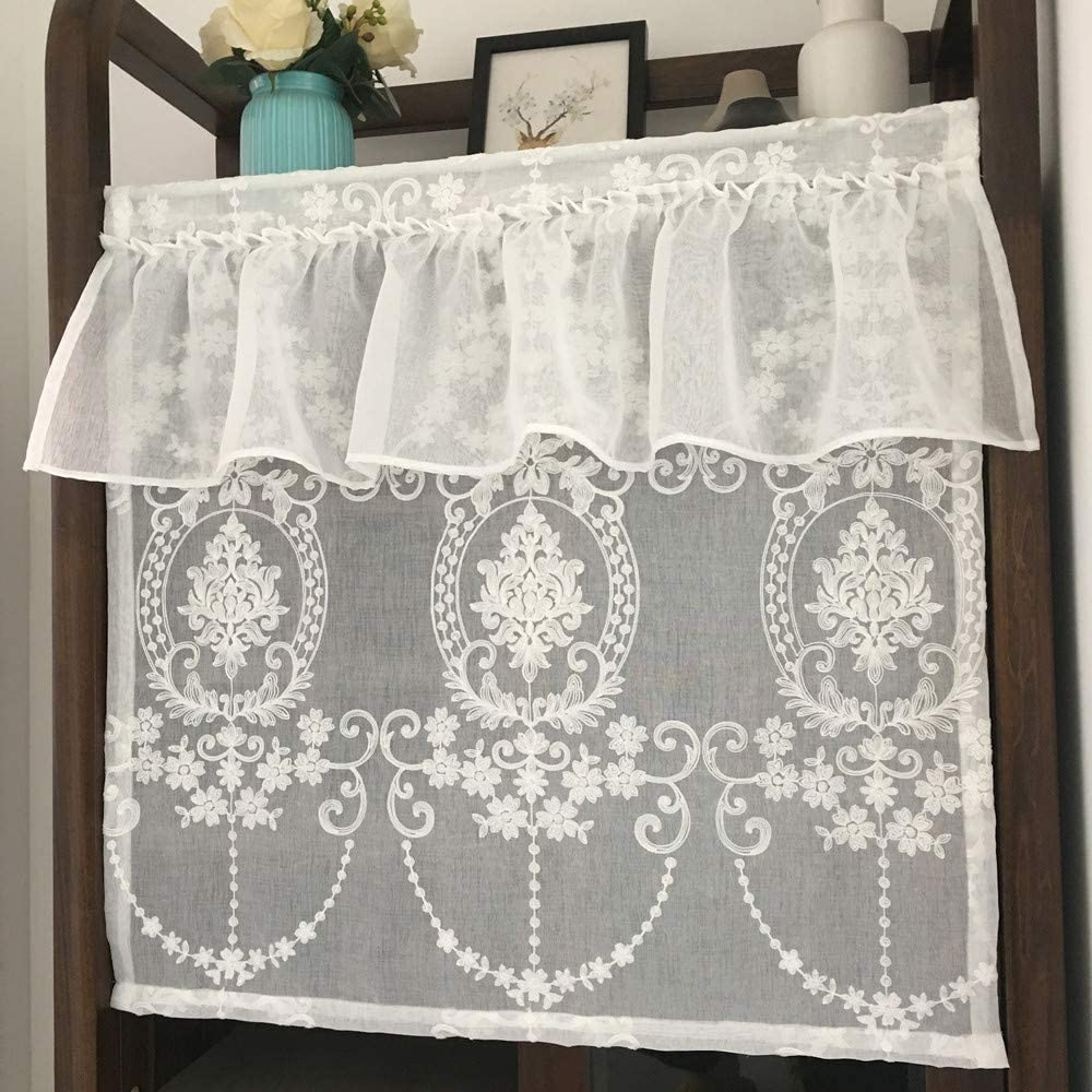 Popular brand in the world KMSG 47 Inches Long Waffle Max 52% OFF Woven Curtains 1 Panel Short Textured