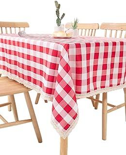 yellow buffalo check tablecloth