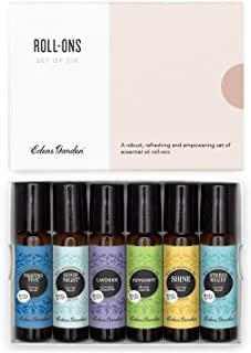 Edens Garden Roll-On Essential Oil 6 Set, 100% Pure Therapeutic Grade (Pre-Diluted & Ready To Use- Starter Kit), 10 ml Rol...