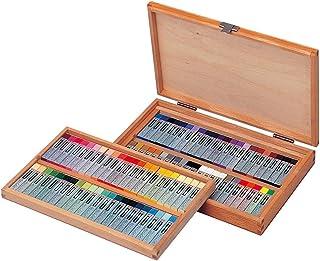 Cray-pas Specialist Premium, Artist Quality Oil Pastels, Square Stick, 88 Piece, Wood Box Set,