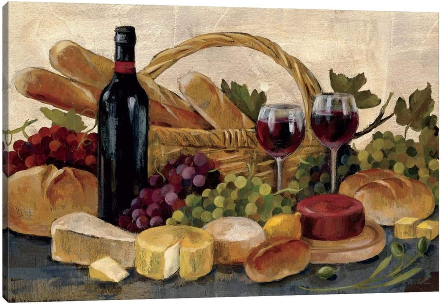 TIMUBA Kitchen Canvas Wall Art Dining Ro Red Cheap mail Financial sales sale order sales Wine Pictures