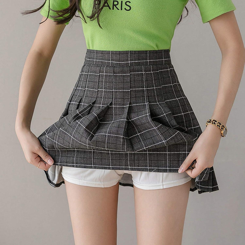 Falda de l/ínea A con Cadena de Cintura Uniforme para Mujer Falda Plisada a Cuadros de Cintura Alta jieGorge Blusa de Mujer Ropa para Mujer