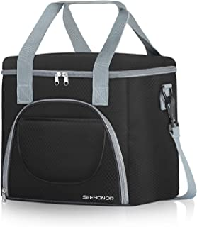 SEEHONOR Insulated Lunch Bag Leakproof Thermal Reusable Lunch Box Large Cooler Tote Bag for Men Women Adult Office Work College Picnic Hiking Beach
