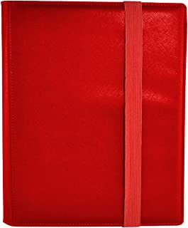 Dex Protection Dex Binder 9 Red Deluxe Portfolio 9-Pocket Velvet-Lined Playset Album Holds 360 Cards Double Sided, Side-Lo...