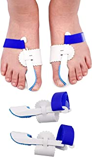 Bunion Corrector-1 Pair Adjustable Bunion Night Splint Hammertoe Corrector Brace for Big Toes Joint Hallux Valgus Pain Relief by ERGOfoot