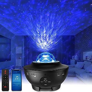 LED Sternenhimmel Projektor Galaxy Light - Starry Projector Light mit Wasserwellen, Bluetooth-Lautsprecher Funktion, Galax...
