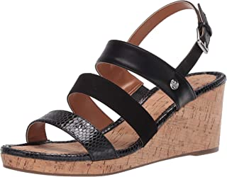 Bandolino Footwear Women's Wedge Sandal, Black, 6