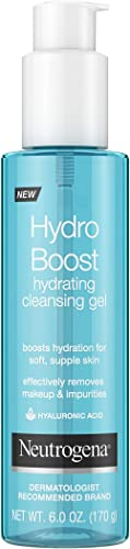 Neutrogena Hydro Boost Lightweight Hydrating Facial Cleansing Gel for Sensitive Skin, Gentle Face Wash & Makeup Remov...