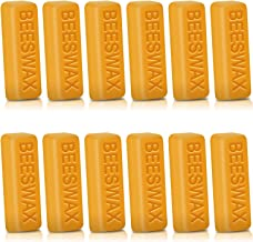 Perkisboby 12 Pack Beeswax Bars, 1oz Yellow Bees Wax - Cosmetic Grade, DIY Projects, Candle Making, Furniture Polish