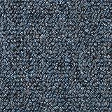 Teppichboden Auslegware | Schlinge gemustert | 400 und 500 cm Breite | blau grau | Meterware, verschiedene Größen | Größe: 3,5 x 4m