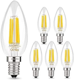 Albrillo E12 LED Bulb, 40 Watt Equivalent Candelabra LED Bulbs Ceiling Fan Bulbs, Non Dimmable Lamp, Daylight White 5000K, 6 Pack