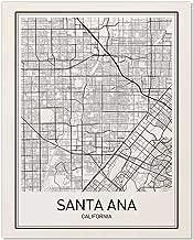 Santa Ana Map, Santa Ana Poster, Map of Santa Ana, Minimalist Poster, City Map Posters, Santa Ana Map, Black and White, Map Wall Art, Map Art, Scandinavian Poster, 8x10
