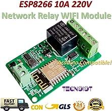 TECNOIOT ESP8266 10A 220V Network Relay WiFi Module Input DC 7V~30V |ESP8266 10A 220V Módulo de relé de Red WiFi Entrada DC 7V ~ 30V