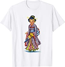 Vintage traditional national Japanese costume doll T-shirt.