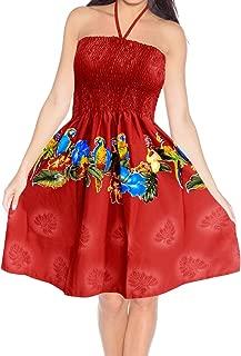 Women's Midi Bohemian Tube Dress Boho Dress Summer Beachwear Printed C
