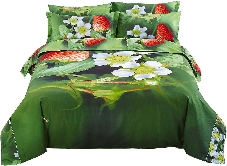 lowest price Ranking TOP8 Queen Duvet Cover Bedding Set Dolce Mela - DM512Q Strawberry