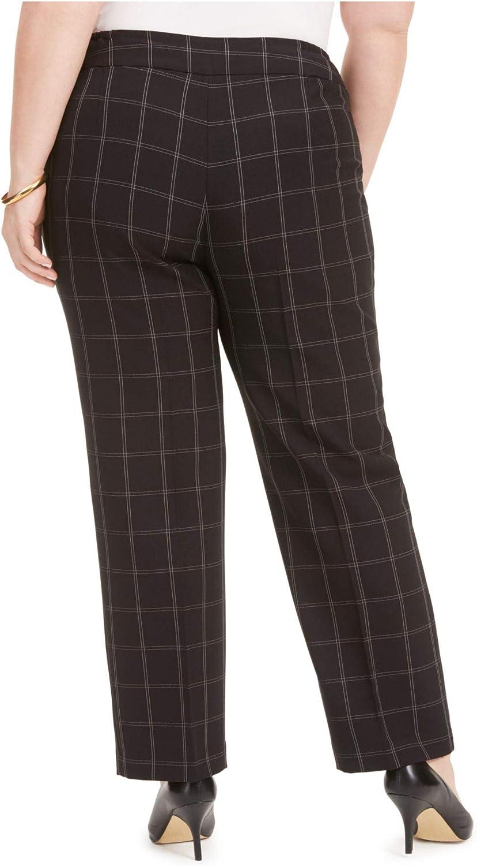 Kasper Womens Petites Windowpane Office Wear Pants