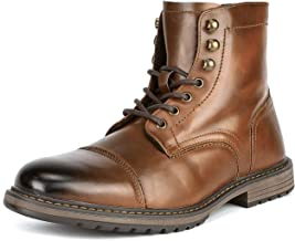 Bruno Marc Men's Motorcycle Boots Oxford Dress Boot