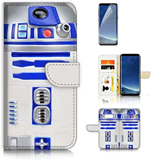 ( For Samsung S8 , Galaxy S8 ) Flip Wallet Case Cover & Screen Protector Bundle! A0716 Starwars R2 D2