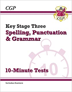 KS3 Spelling, Punctuation and Grammar 10-Minute Tests (includes answers)