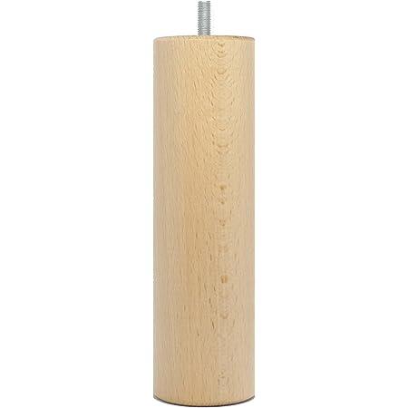 La Fabrique de Pieds AM20170001 Jeu de 4 Pieds de Lit Cylindres Bois Verni Clair 20 x 6 x 6 cm