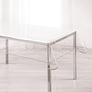 Douceur d'Intérieur Ligne Décor 1710573 Nappe PVC/Polyester Taupe 140 x 240 x 240 cm