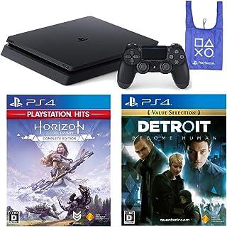 PlayStation 4 + Horizon Zero Dawn Complete Edition + Detroit: Become Human + オリジナルデザインエコバッグ セット (ジェット・ブラック) (CUH-2200AB01)