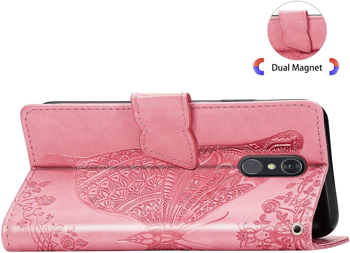 ZISD020965 Lila H/ülle f/ür LG Q7 // Q7+ Q7 Plus Handyh/ülle Schutzh/ülle Leder PU Wallet Bumper Lederh/ülle Ledertasche Klapph/ülle Klappbar Magnetisch f/ür LG Q7 // Q610