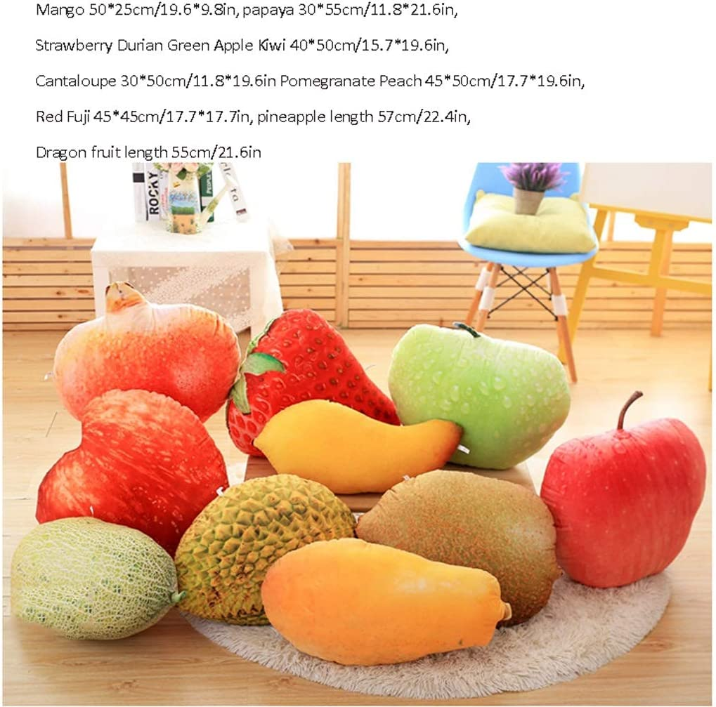 Zacht speelgoed Children's Pillow Pluche Simulation Fruit Toy Super Soft Hug Kussen met vulling Bank Home Decoration Gift For Children Knuffel kussen (Color : B) G