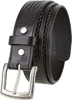 Basketweave Men's Work Uniform Belt 1 1/2
