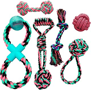 Otterly Pets Puppy Dog Cute Pink Boutique Rope Toys Set Bundle - Small to Medium Breed Girl Dogs
