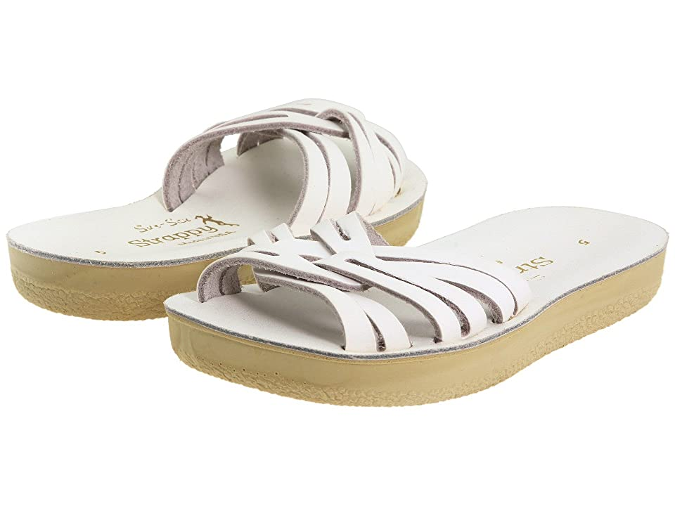 Salt Water Sandal by Hoy Shoes Sun-San Strappy Slide (Toddler/Little Kid) (White) Girls Shoes
