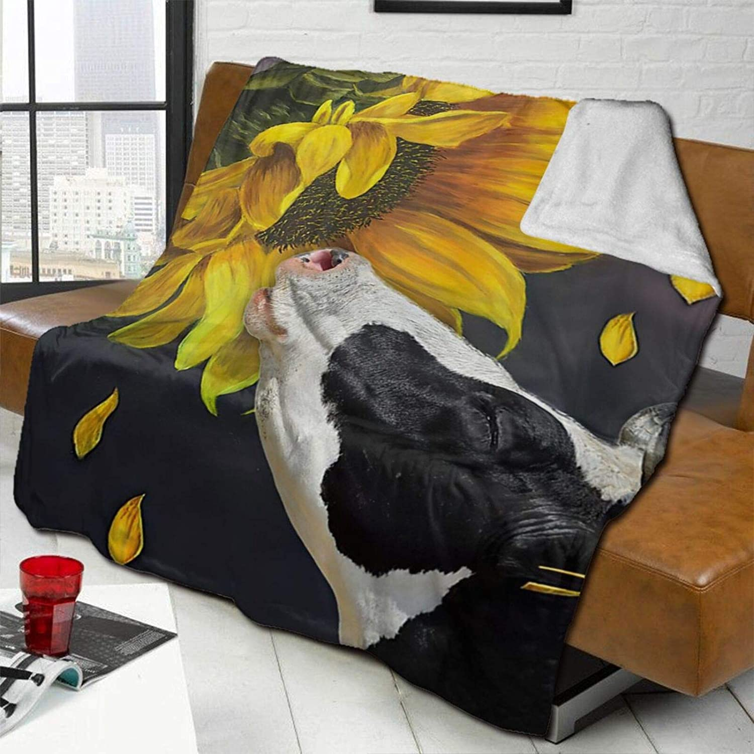 Sunflower and Animer and price revision Ranking TOP14 Cow Lamb Wool Soft Double-Side Super Blanket Throw