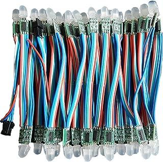 VISDOLL WS2801 Pixel Led String, 50Pcs WS2801 12mm Full Color Individually Addressable Digital RGB LED Rope Light DC 5V Non-Waterproof