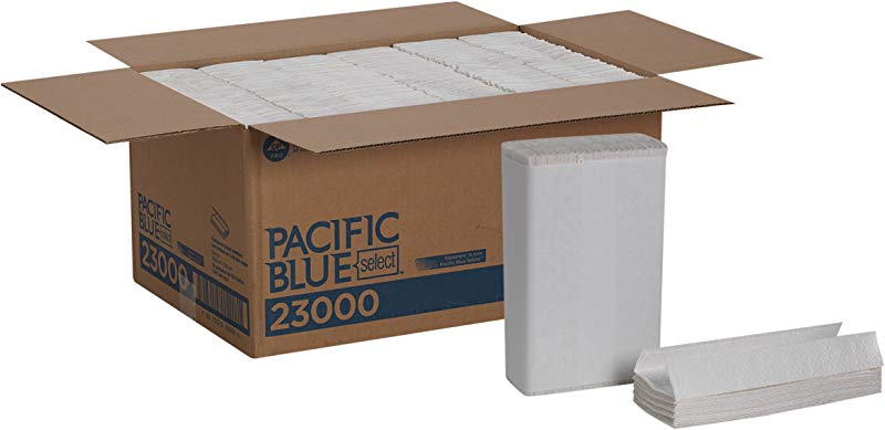 Pacific Blue Select Premium 2 Ply C Fold Paper Towels Previously Branded Signature By GP PRO Georgia Pacific White 23000 120 Towels Per Pack 12 Packs Per Case Total 1440 Towels