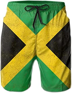 1b3ae6e1fb confirm vt Men's Jamaica Flag Proud Jamaicans Tropical Quick Dry Board  Shorts Swimming Volley Beach Trunks