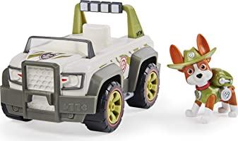 PAW Patrol, Tracker's Jungle Cruiser Vehicle with Collectible Figure, for Kids Aged 3 and up