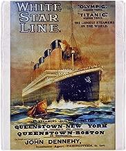 CafePress $59.99 Titanic White Star Soft Fleece Throw Blanket, 50