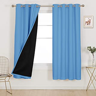 Curtains Printed Wood Eyelet Curtain for Children Window Decoration for Bedroom Nursery Living Room Set of 2 Panels 27.5 x 63 inch WxH