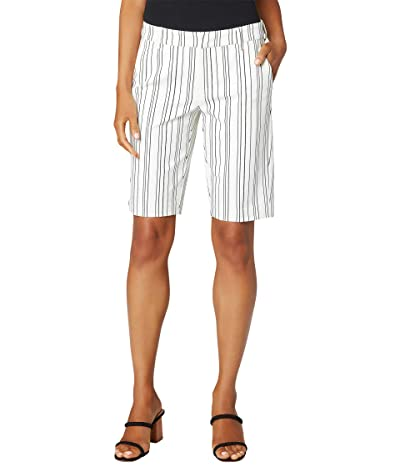 Liverpool Kelsey Bermuda Trouser Shorts (Gardenia/Caviar Black Abstract Stripe) Women