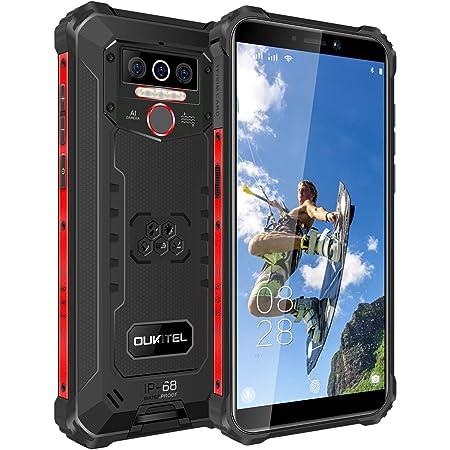 OUKITEL WP5 Pro(2021) Android 10.0 Teléfono Resistente, 8000mAh Batería, 4GB RAM + 64GB ROM, Impermeable IP68 Rugged Smartphone, 5.5 Pulgadas HD, Telefono Movil Robusto,4 LED(Negro)