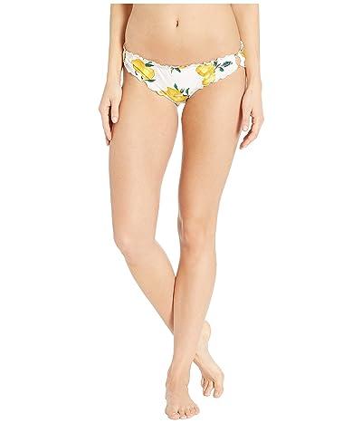 Kate Spade New York Lemon Beach Ruffle Edge Bikini Bottoms w/ Ring Detail (Fresh White) Women