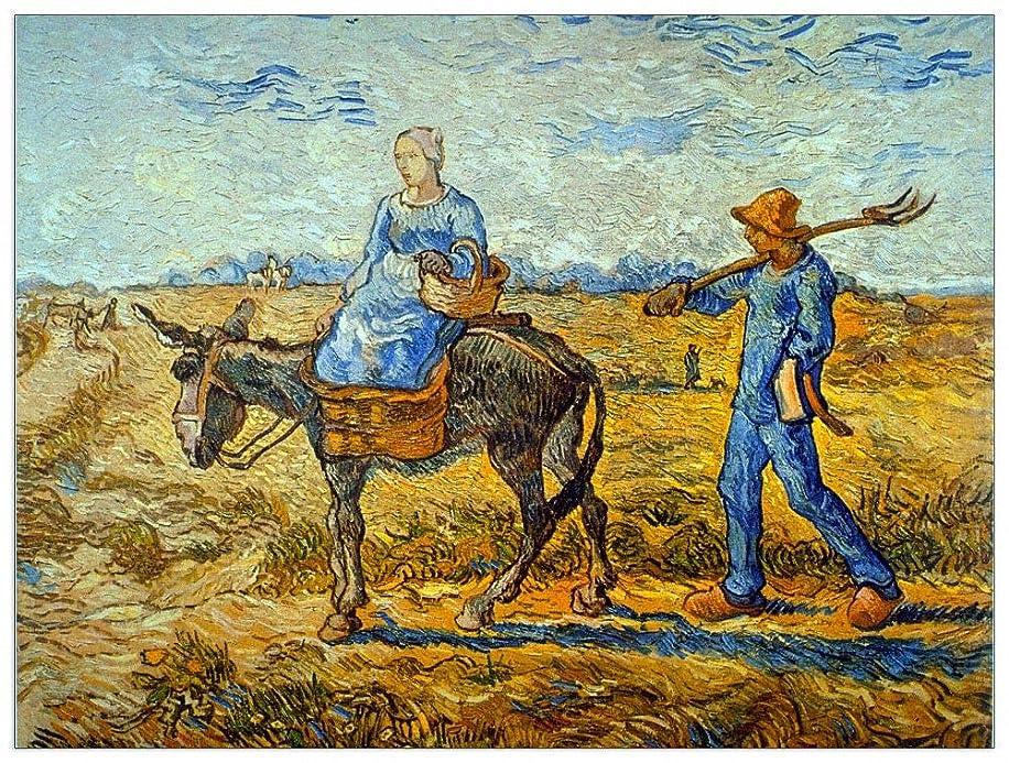 ArtPlaza TW90739 Van Gogh Vincent-Morning Decorative Panel, 51x39.5 Inch, Multicolored