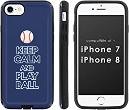 [Mobiflare] Slim Dual Layer Phone Case FITS i-Phone [7] [7S] [8] [Black/Black] Slim Dual Shock Phone Cover - [Play Ball - Tampa Bay]
